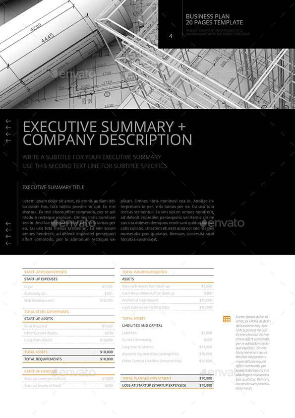 pages business plan template