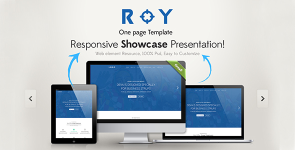 roy one page html templategraphtheme | themeforest, Presentation templates