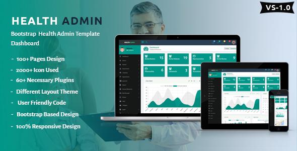 health admin template  Health Admin - Bootstrap Health Admin Template Dashboard by ...