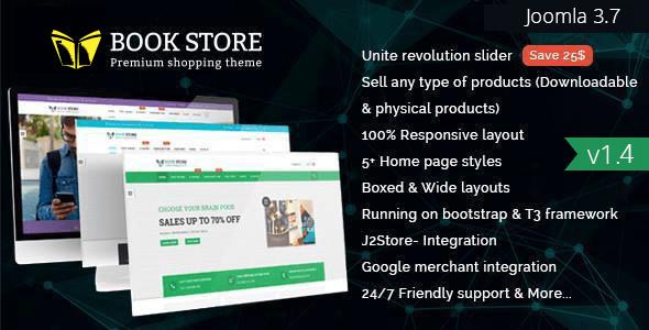 Bookstore - Responsive Joomla Ecommerce Template by JoomlaBuff ...