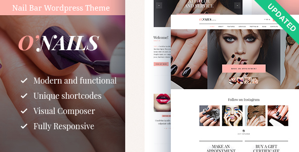 O'Nails - Nail Bar & Beauty Salon WordPress Theme by AncoraThemes ...