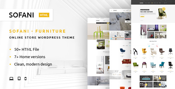 Sofani Furniture Store HTML Template by YoloPSD ThemeForest