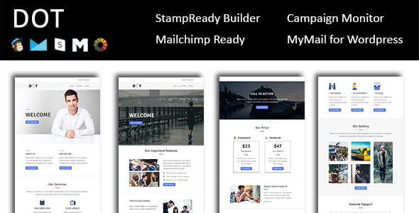 dot email template multipurpose responsive with stampready
