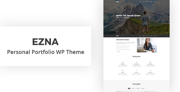 Ezna - Personal Portfolio WordPress Theme by HasTech | ThemeForest