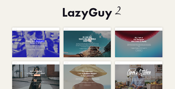 LazyGuy 2 - Personal Landing Page Template for Everyone by pixelwars