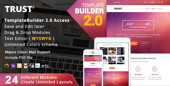 Trust - Responsive Email + MailBuild Online by akedodee | ThemeForest