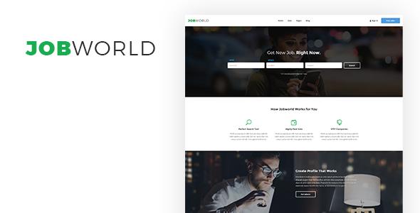 job portal html template themeforest  Job Portal Template | Job World by sanljiljan | ThemeForest