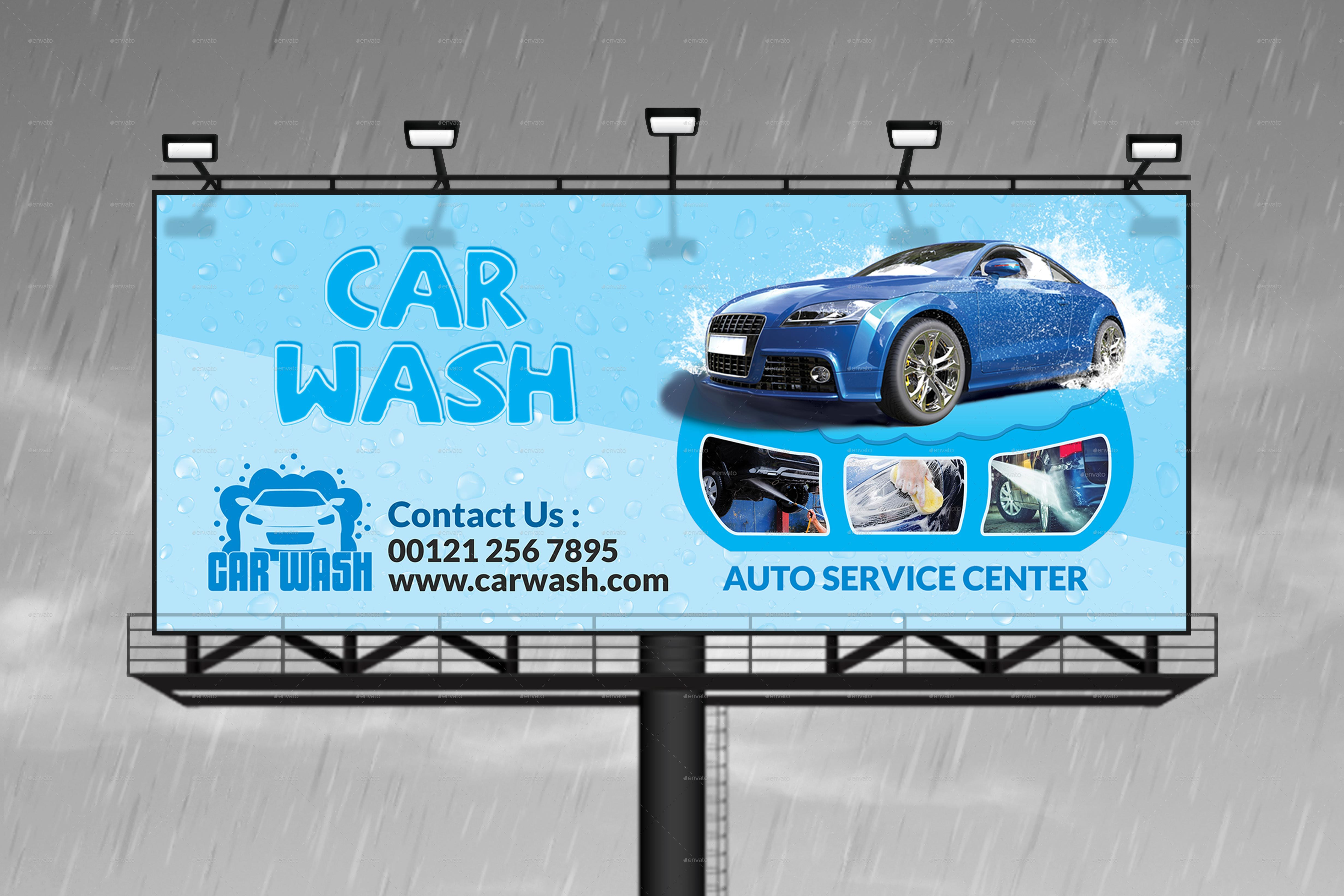 A poster board for car wash team