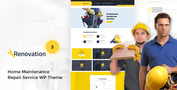 renovation home maintenance repair service theme by thememove themeforest. Black Bedroom Furniture Sets. Home Design Ideas