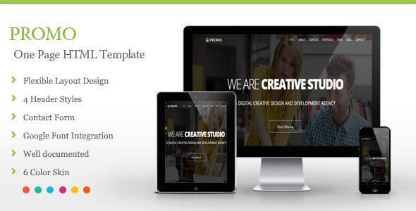 Promo One Page Html Template By Beeskip Themeforest