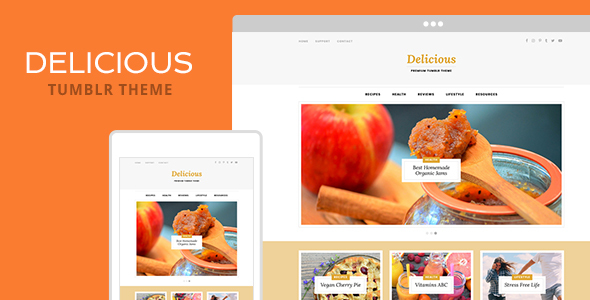 Delicious Tumblr Theme By Themelantic