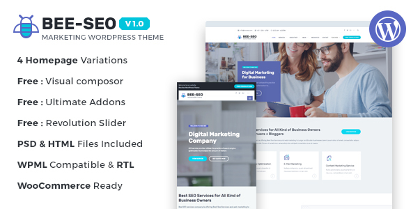 Bee SEO - Marketing WordPress Theme