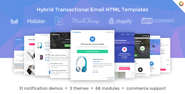 Lil Commerce Hybrid Transactional Email HTML Templates By Webtunes - Transactional email templates