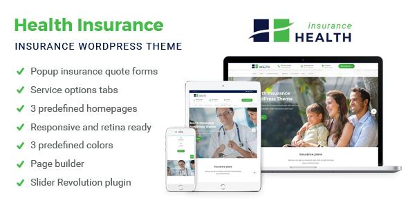 insurance website templates themeforest  Health Insurance - Insurance WordPress Theme by rayoflightt ...