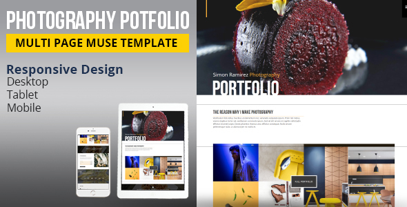 Photography portfolio muse template by k project themeforest photography portfolio muse template creative muse templates maxwellsz