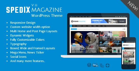 Spedix - Responsive WordPress News and Magazine Theme by themelet ...