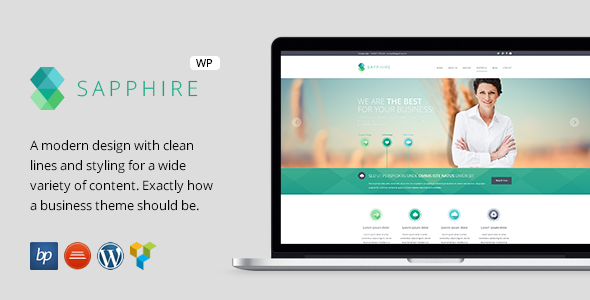 Sapphire responsive business wordpress theme by bitpub themeforest wajeb Choice Image