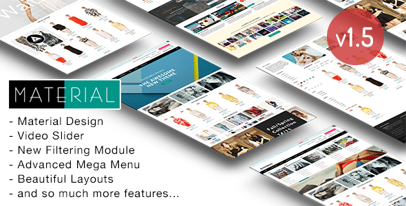 Material responsive shopify theme by roartheme themeforest pronofoot35fo Images