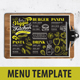 Vegan Food Menu-Graphicriver中文最全的素材分享平台