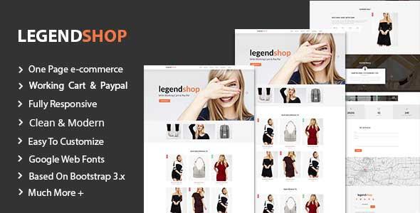 LegendShop One Page Multi Purpose eCommerce Templates by Legend-Theme
