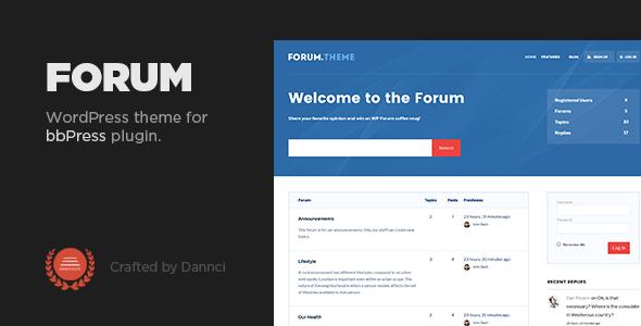 Forum - A responsive theme for bbPress plugin by Dannci | ThemeForest