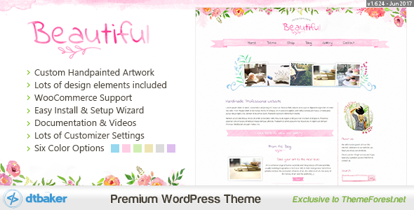 Beautiful Floral Watercolor - Blog & Shop by dtbaker | ThemeForest
