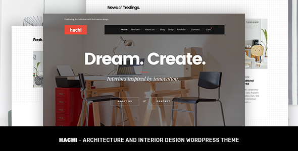 Hachi Architecture and Interior Design WordPress Theme by EverisLabs
