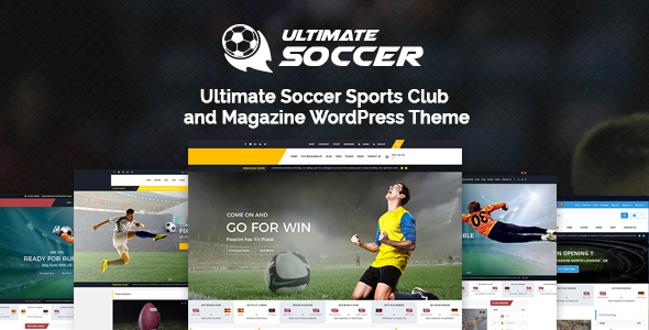 Ultimate Soccer News Magazine WordPress Theme - Sports Club by ...