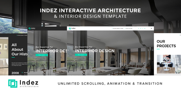 Indez Interactive Architecture Interior Template by on3step