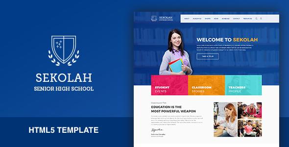 Sekolah - Senior High School HTML5 Template by kenzap | ThemeForest