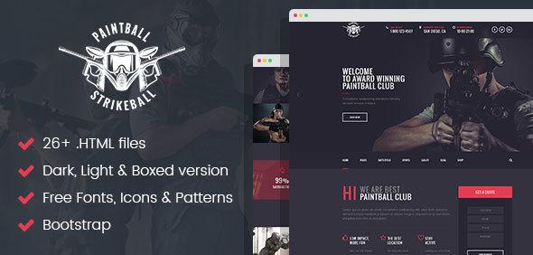 Paintball & Strikeball Club - Premium HTML5 Template by themewar ...
