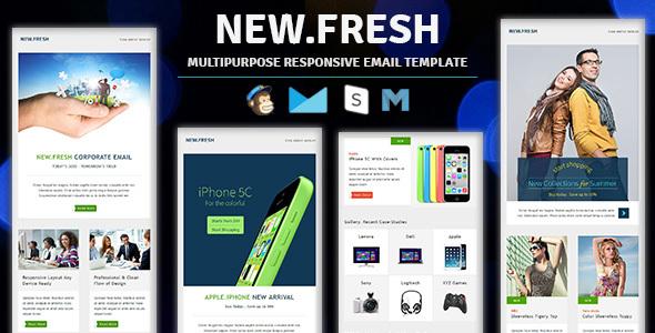 NewFresh Responsive Email Newsletter Templates By Guiwidgets - Fresh weekly agenda template design