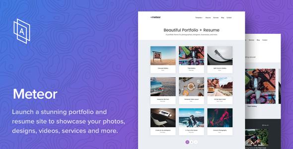 meteor beautiful portfolio and resume wordpress theme by arraythemes