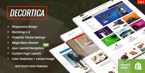 Decortica responsive shopify template by halothemes themeforest pronofoot35fo Images