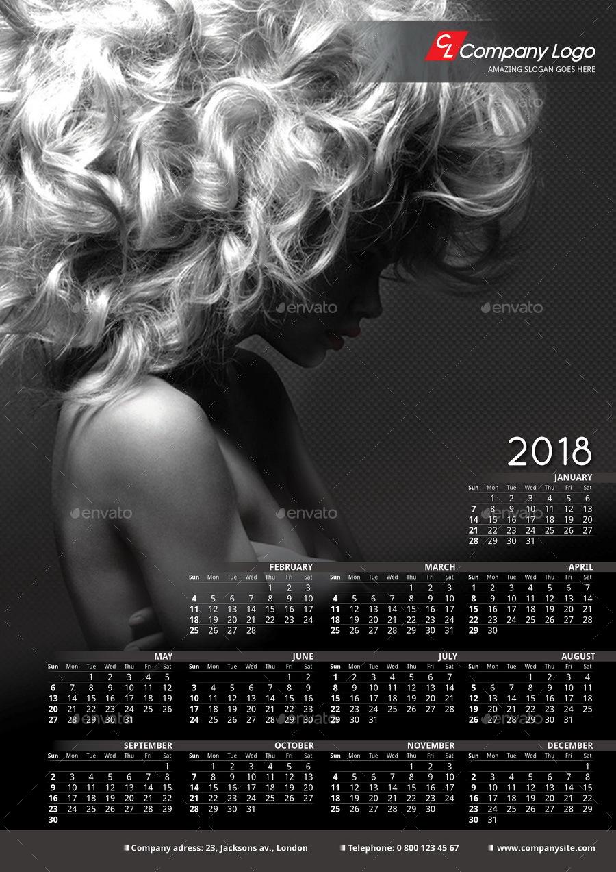 2018 Poster-Calendar template by La_Croix | GraphicRiver