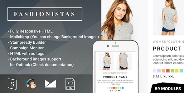 Fashion ecommerce responsive email with mailchimp for Mailchimp ecommerce templates