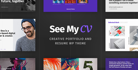 see my cv resume vcard wordpress theme by cmsmasters themeforest