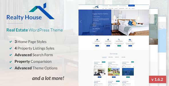 Realty House - Responsive Real Estate WordPress Theme by RavisTheme