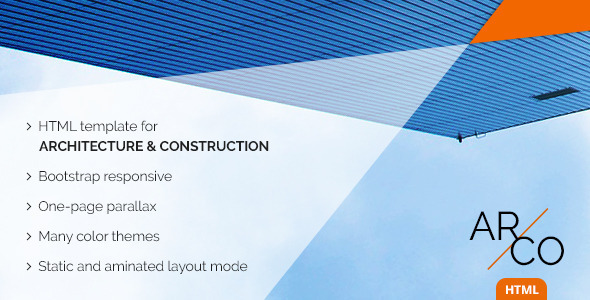 OnePage Architect Construction HTML Template | Arco by TheRubikThemes
