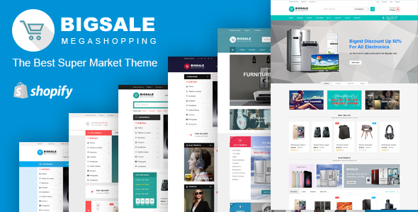 Bigsale Responsive Ecommerce Shopify Template By Typostores - Shopify design templates