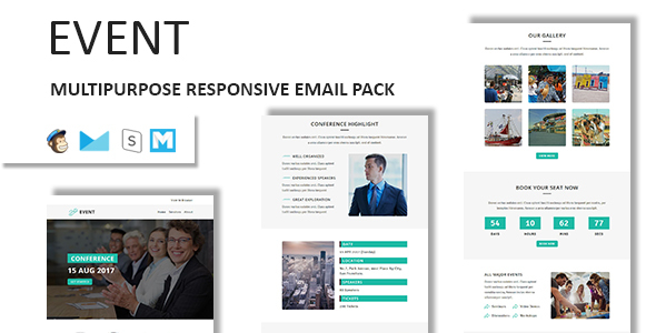 event multipurpose responsive email template with stampready builder access email templates marketing - Free Responsive Email Templates