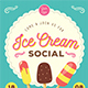 Ice Cream Social Flyer-Graphicriver中文最全的素材分享平台