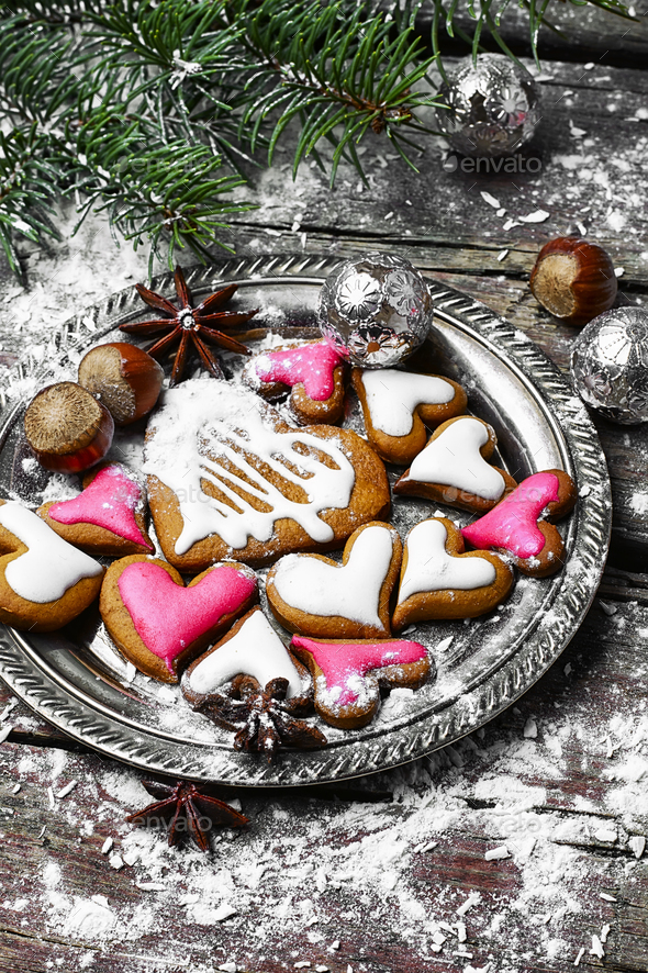homemade christmas cookies stock photo by nikolaydonetsk photodune - Homemade Christmas Cookies