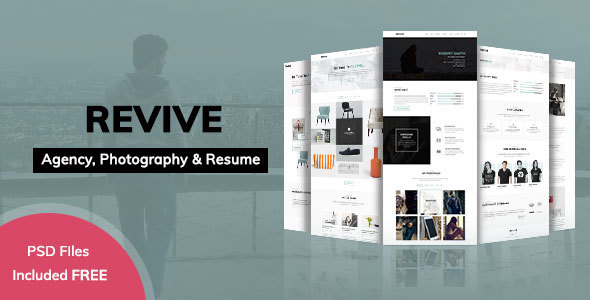 revive minimal portfolio template for agency resume photography portfolio creative