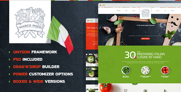 MarcoPolo - Restaurant and Food WordPress Theme by mwtemplates ...