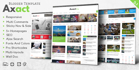 Axact responsive magazine blogger theme by themelet themeforest axact responsive magazine blogger theme blogger blogging maxwellsz