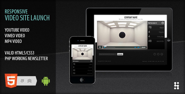 Responsive video site launch coming soon by Ansonika   ThemeForest