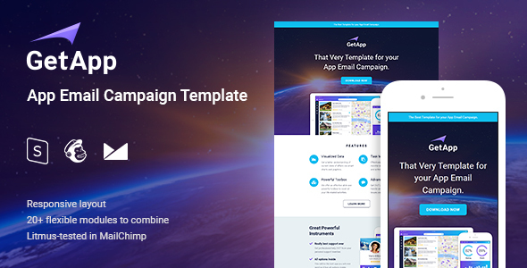 Getapp app email campaign newsletter template by coverry themeforest getapp app email campaign newsletter template email templates marketing maxwellsz