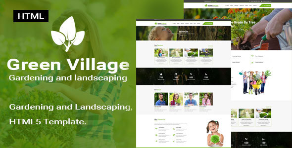 Green Village || Garden and Landscaping Responsive HTML5 Template by ...