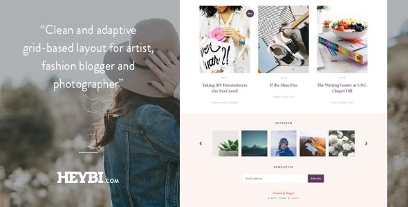 Demi: Grid-Based Blog Template by Heybi   ThemeForest